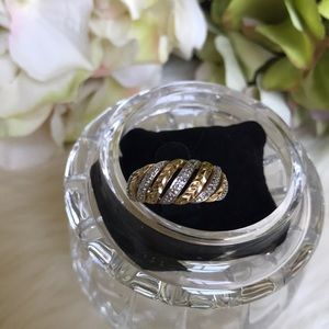 Jewelry - Sterling Silver/Goldtone Ring